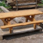 8ft Handmade Picnic Table Constructed with West Virginia White Pine