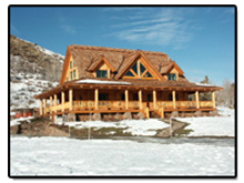 custom log home photo gallery